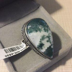 Jewelry - New Tree Agate gemstone Ring